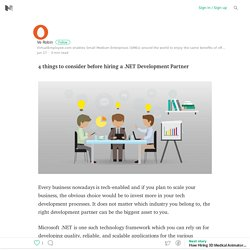 4 things to consider before hiring a .NET Development Partner