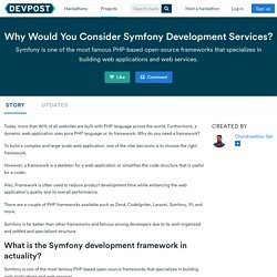 How Symfony Is a Favorable Choice for Making Complex Web Applications Faster?
