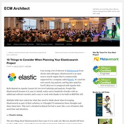 10 Things to Consider When Planning Your Elasticsearch Project