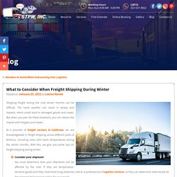 What to Consider When Freight Shipping During Winter