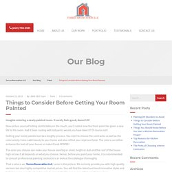Things to Consider Before Getting Your Room Painted