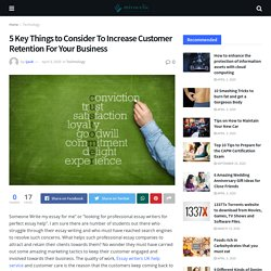 5 Key Things to Consider To Increase Customer Retention