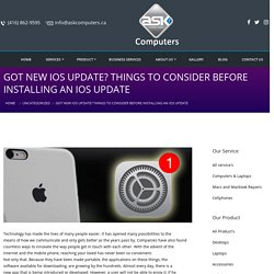 Got New IOS update? Things to consider before installing an IOS Update - Ask Computers