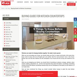5 Things to Consider Before Buying Kitchen Countertops