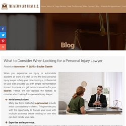 What to Consider When Looking for a Personal Injury Lawyer