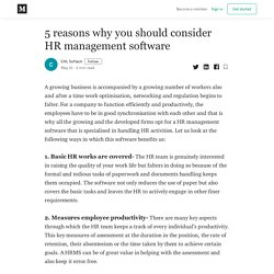 5 reasons why you should consider HR management software