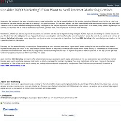 Consider 'iSEO Marketing' if You Want to Avail Internet Marketing Services