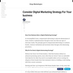 Consider Digital Marketing Strategy For Your business