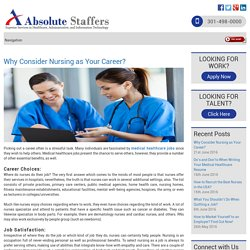 Why Consider Nursing as Your Career?