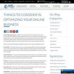 Things to Consider in Optimizing your Online Business