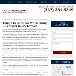 What to Consider When Hiring a Personal Injury Attorney