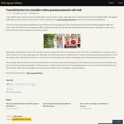 Crucial factors to consider when posizionamento siti web