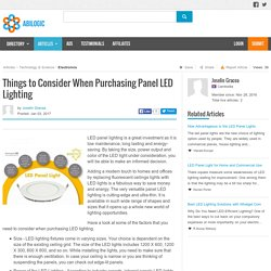 Things to Consider When Purchasing Panel LED Lighting