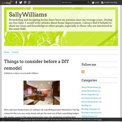 Things to consider before a DIY remodel - SallyWilliams