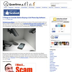 5 Things to Consider Before Buying a Cell Phone Spy Software