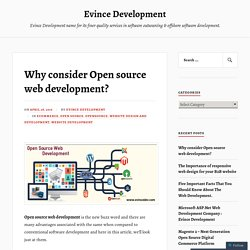 Why consider Open source web development? – Evince Development