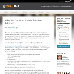 Why Not Consider Oracle Standard Edition?
