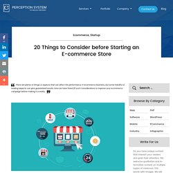 18 Things You Should Consider before Launching an E-commerce Site