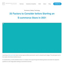 20 Things to Consider before Starting an E-commerce Store