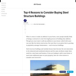 Important 4 Reasons to Consider Buying Steel Structure Buildings