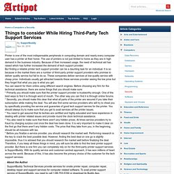 Things to consider While Hiring Third-Party Tech Support Services