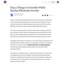 Top 3 Things to Consider While Buying Wholesale Jewelry