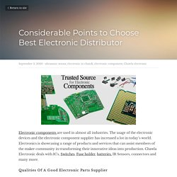 Considerable Points to Choose Best Electronic Distributor - ultrasonic sensor electronic in chandi electronic component Chawla electronic