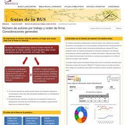 Número de autores y orden de firma (U Sevilla)