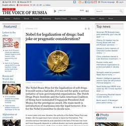 Nobel for legalization of drugs: bad joke or pragmatic consideration?