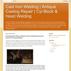 Consideration When to Reach Out to Professional for the Cast Iron Housing Repair