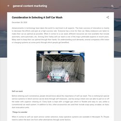 Consideration In Selecting A Self Car Wash