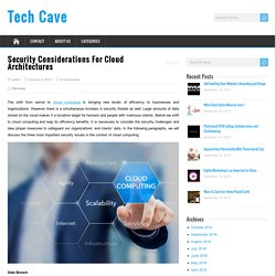Security Considerations For Cloud Architectures - Tech Cave