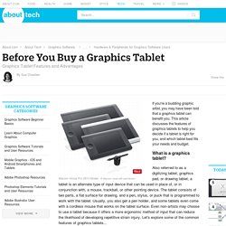 Before You Buy a Graphics Tablet - Advantages and Features of Graphics Tablets