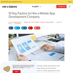 10 Things to Consider While Looking For a Mobile App Vendor