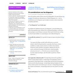 10 considérations sur les blogueurs « internet et opinion(s) - w