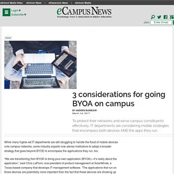 3 considerations for going BYOA on campus - eCampus News