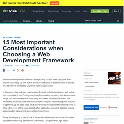 15 Most Important Considerations when Choosing a Web Development Framework