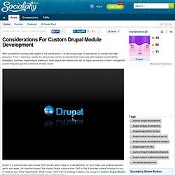 Considerations For Custom Drupal Module Development