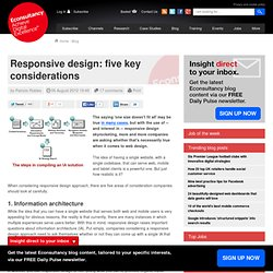 Responsive design: five key considerations