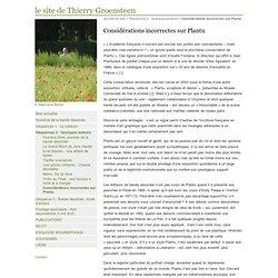 Considérations incorrectes sur Plantu - le site de Thierry Groensteen