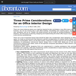Three Prime Considerations for an Office Interior Design
