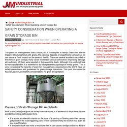 Safety Considerations for Grain Storage Bin Operations - J&M Industrial Blog