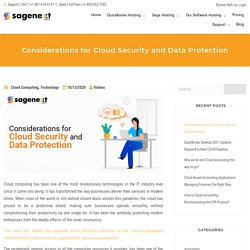 Key Considerations for Cloud Security and Data Protection