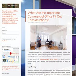 What Are the Important Commercial Office Fit Out Considerations?