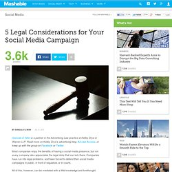 5 Legal Considerations for Your Social Media Campaign