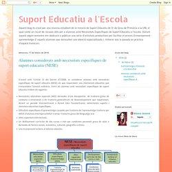 Suport Educatiu a l'Escola: Alumnes considerats amb necessitats específiques de suport educatiu (NESE)