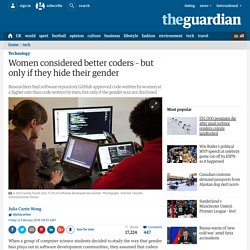 Women considered better coders – but only if they hide their gender