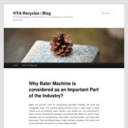 Why Baler Machine is considered as an Important Part of the Industry?