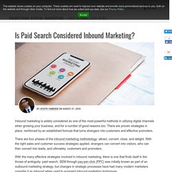 Is Paid Search Considered Inbound Marketing?