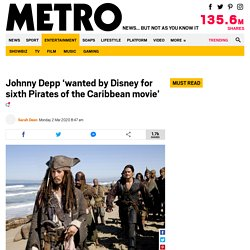 Johnny Depp 'being considered for more Pirates of the Caribbean'